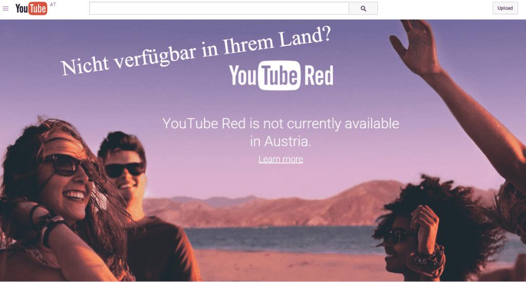 YouTube RED nur mit USA IP Adresse verfügbar!