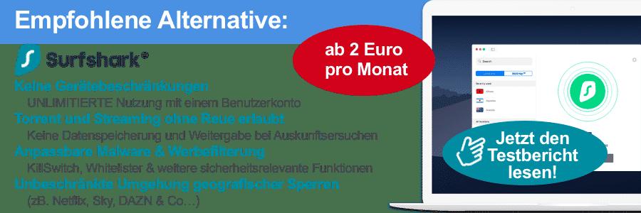 Alternative: Surfshark VPN
