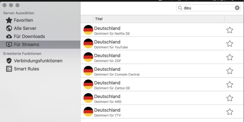 CyberGhost deutsche Streaming Services unterstützt