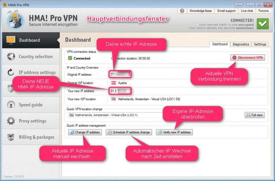 HideMyAss VPN Anleitung in Deutsch 2