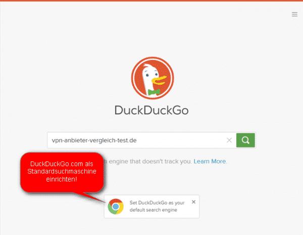 DuckDuckGo.com Suchmaschine