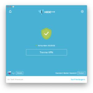 Hide.me VPN Verbindung