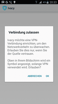 Ivacy für Android 1