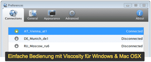 ZorroVPN Software Viscosity für Windows & Mac