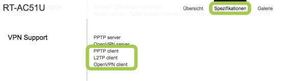 ASUS Router Spezifikationen