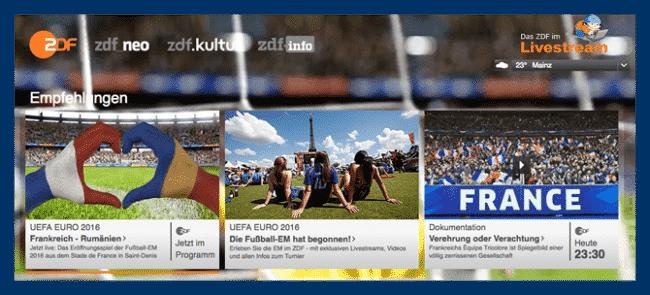 Fußballeuropameisterschaft auch im Ausland sehen!