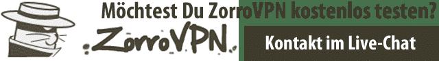ZorroVPN kostenlos testen!