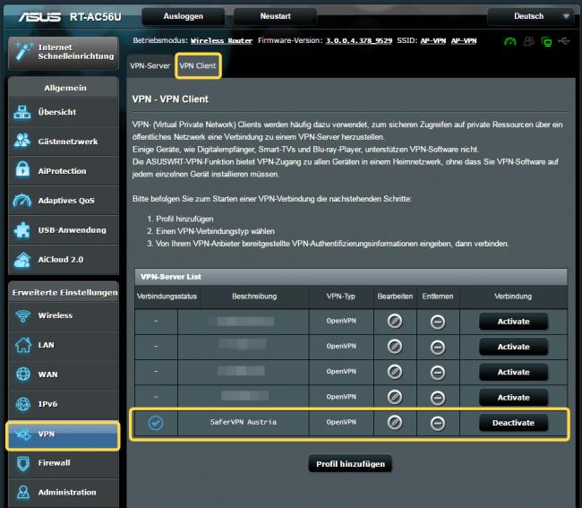 SaferVPN fuer ASUS Router mit OpenVPN 2