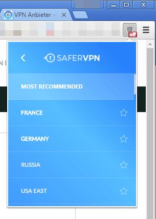 SaferVPN fuer Google Chrome 2