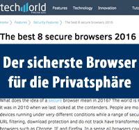 EpicBrowser Sicherheit und Privatsphaere