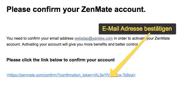 zenmate Installation 3