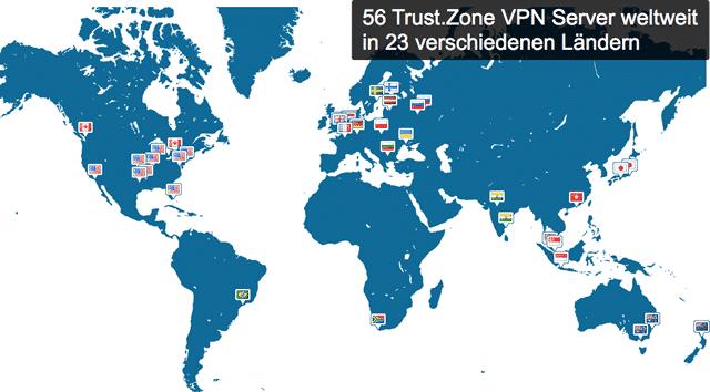 Trust.Zone VPN Server Übersicht