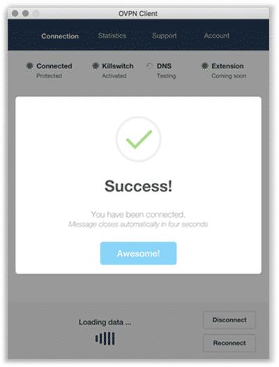 ovpn Erfolgs-Statusmeldung