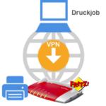 Druckjob per VPN über Fritzbox drucken