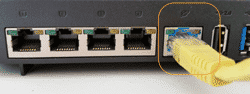 ASUS Router WAN Anschluss nutzen