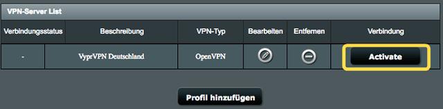 ASUS Router OpenVPN Profil anlegen  min