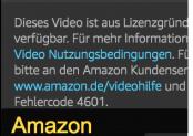 Amazon Video Fehlercode 4601 – blockiert? Was nun?