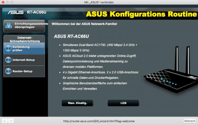 Asus Router Konfiguration