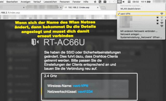 Asus Router WLAN Namensänderung