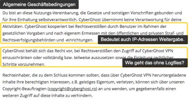 CyberGhost AGB`s