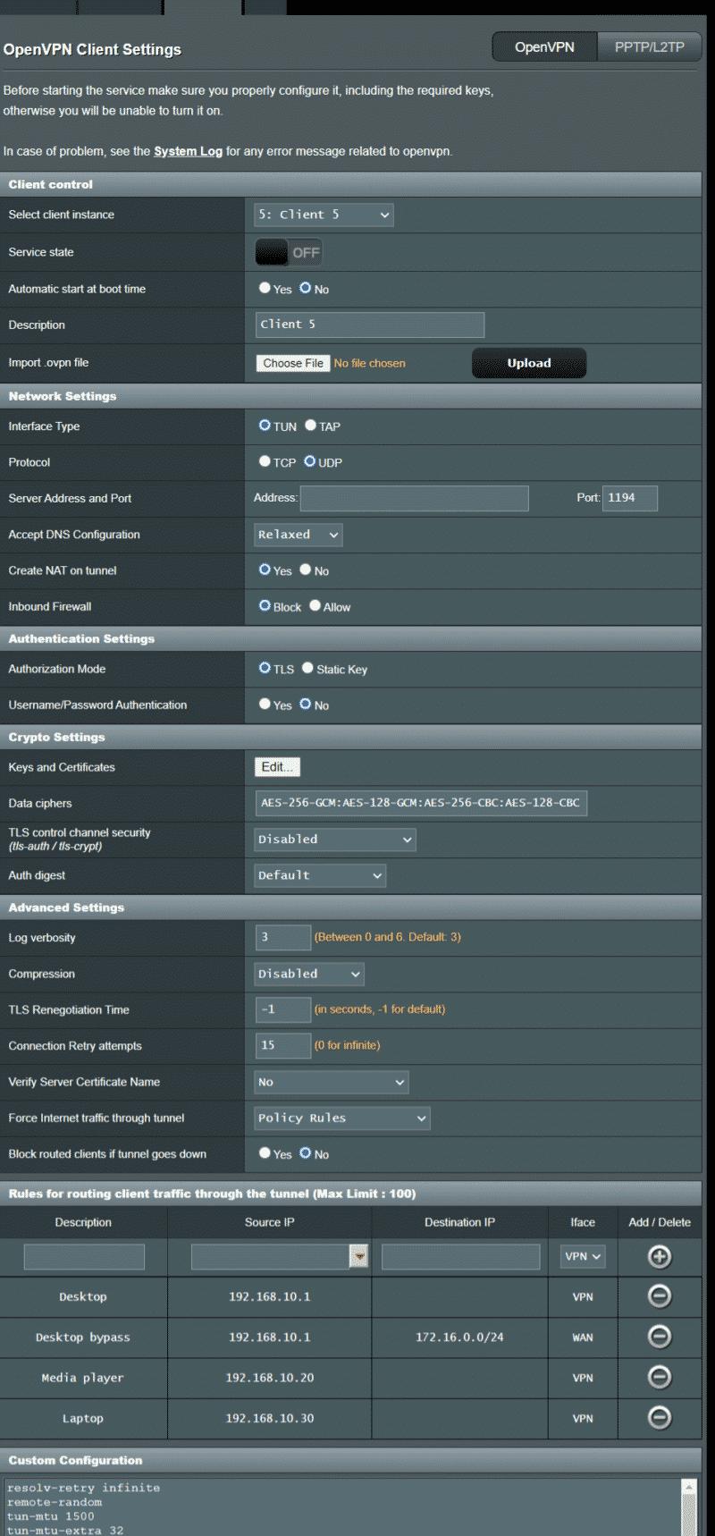 ASUSWRT Merlin mit veränderter OpenVPN Verwaltung