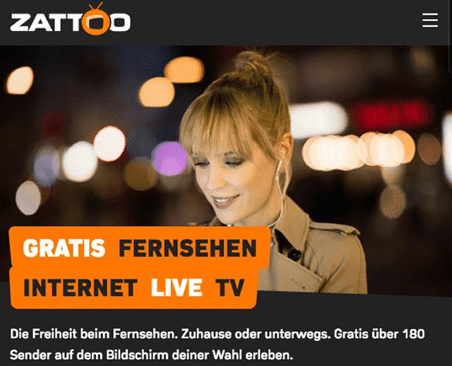 zattoo.com schweizer TV Portal mit allen deutschen Sendern