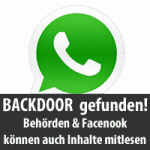 Whatsapp Backdoor gefunden!