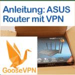 Anleitung: GooseVPN auf ASUS-Router einrichten