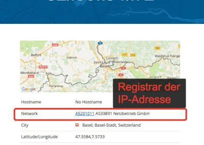 IP-Adresse Registrar