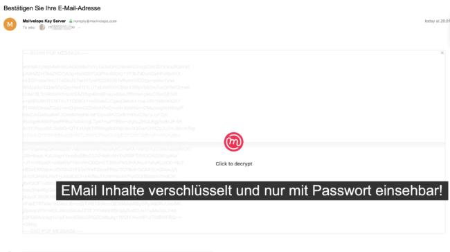 Anonyme EMail verschlüsselt