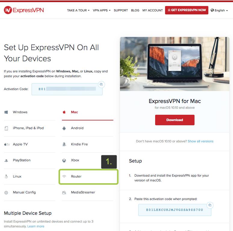 ExpressVPN auf ASUS-Router einrichten