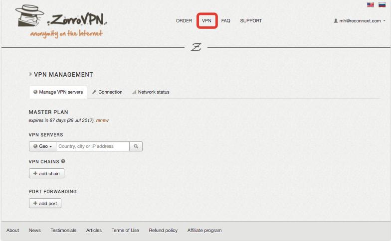 ZorroVPN auf dem ASUS Router einrichten
