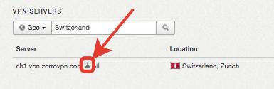 """Klicke auf das kleine """"Konfigurations/Download"""" Symbol"""
