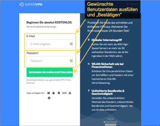Anleitung: SaferVPN auf einem ASUS Router einrichten (Kostenloser Test) 1