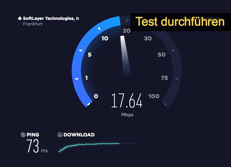Speedtest Vergleich