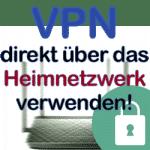 Darstellung eines Routers mit VPN