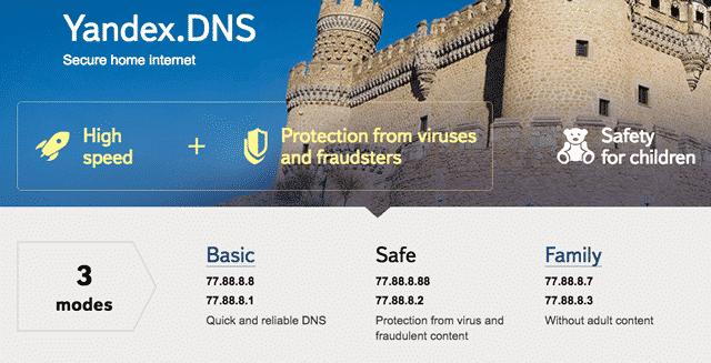 Yandex DNS Dienste schützen vor Gefahren aus dem Internet!