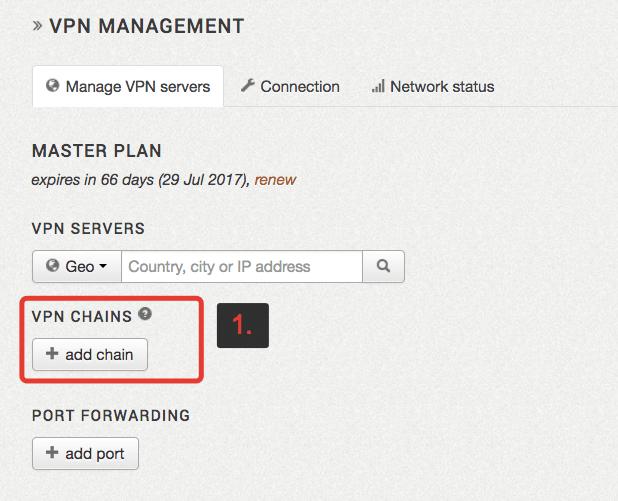 VPN-Verwaltungsseite von ZorroVPN
