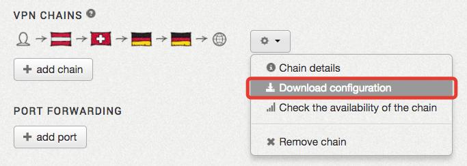 """ZorroVPN: """"Download configuration"""" auswählen"""