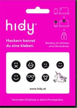 hidy.at Webcam Privatsphäre (Immer wieder verwendbar)