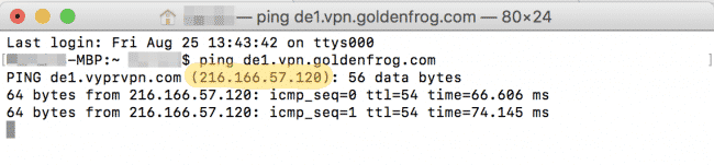 VPN Domain pingen - China