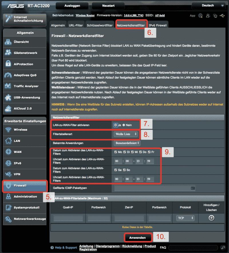 ASUS Router KillSwitch - Netzwerkfilter 2