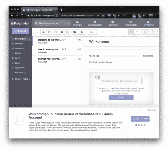 protonmail installation