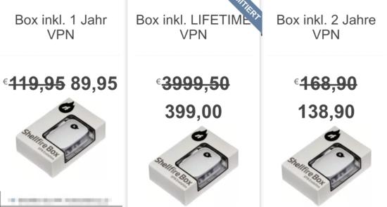 Shellfire VPN Box 4k Preise