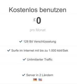 Shellfire VPN kostenloser Tarif