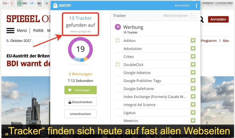 """""""Tracker"""" auf Webseiten"""
