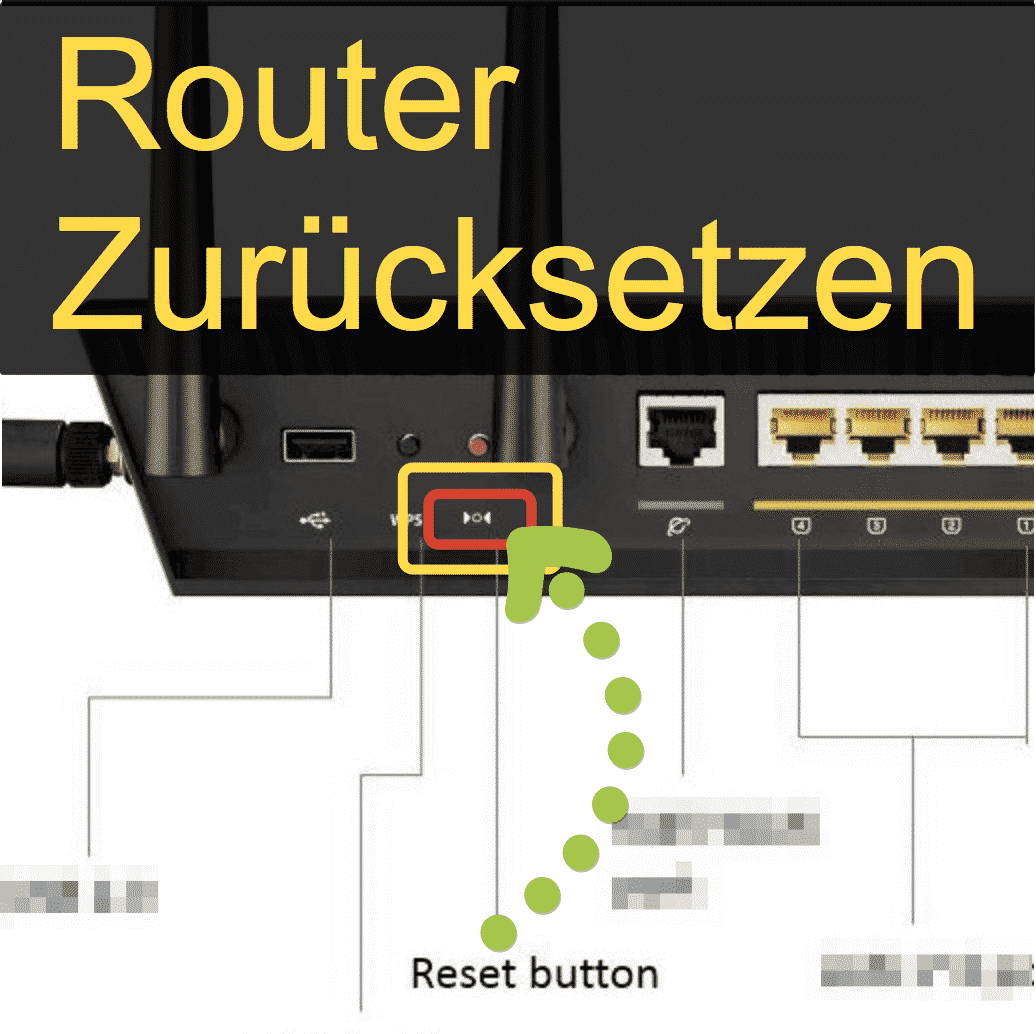 Router RESET Knopf