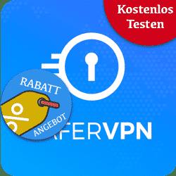 SaferVPN Rabatt und kostenlos Testen Logo
