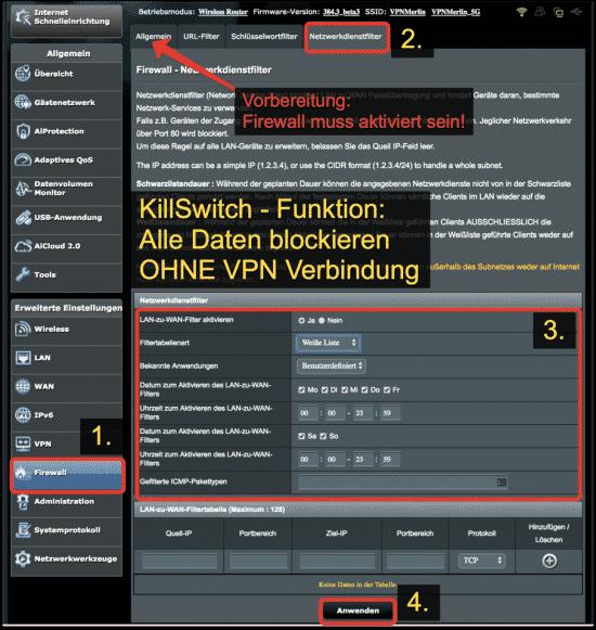 ASUSRouterKillSwitch Netzwerkfilter