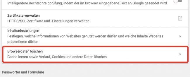 chrome browserdaten loeschen